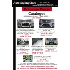 GWM Steed 5 2019+ Nudge Bar Stainless Steel (Fits 2l VGT 4x2 SX & VGT 4x4 SX)