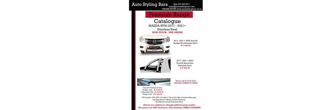 Mazda Products Stainless Steel