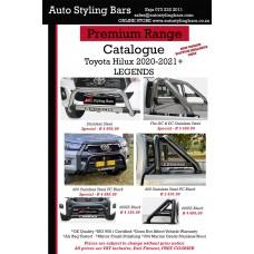 Toyota Hilux LEGEND 2020 - 2021+ DC & EC Sports Bar Black Honeycomb