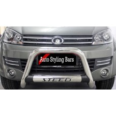 GWM Steed 5E 2019+ Nudge Bar with Oval Cross Member Stainless
