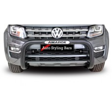 VW Amarok 2010 - 2020+ Nudge Bar PDC Friendly 409 SS PC Black