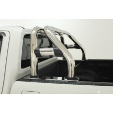 VW Amarok 2010 - 2020+ Rollbar (Sports Bar) Canopy Friendly with Oval Cross Members Stainless Steel.