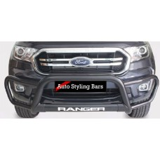 Ford Ranger 2012 - 2015 Tri Bumper 409 Stainless Steel PC Black