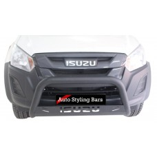 Isuzu 2016+ Fleet Range Nudge Bar 409 Stainless Steel PC Black