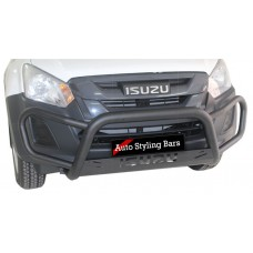 Isuzu 2016+ Fleet RangeTri Bumper 409 Stainless Steel PC Black