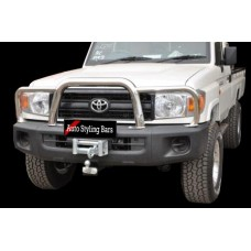 Toyota Landcruiser 70 2010 - 2019+ Series Grill Guard Stainless Steel