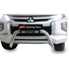 Mitsubishi Triton L200 Facelift 2019+ Low Nudge Bar Stainless Steel