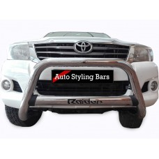 Toyota Hilux 2006 - 2015 Nudge Bar with Oval Cross Member Stainless Steel