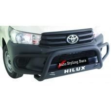 Toyota Hilux+ Fleet Range Tri Bumper 409 Stainless Steel PC Black
