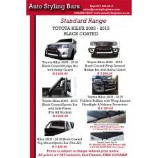 Toyota Hilux 2005 - 2015 Sports Bar (Fits All) Black Coated