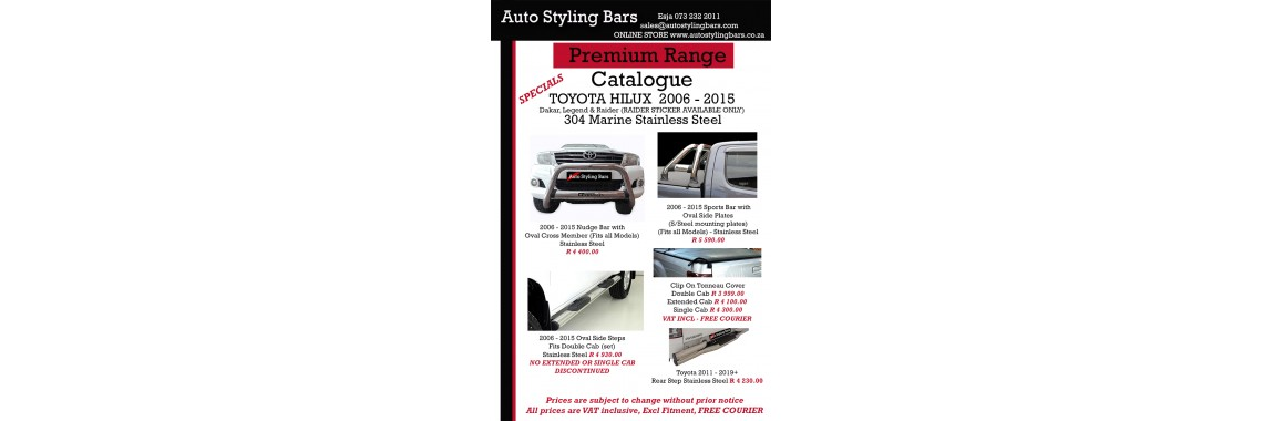 Toyota Hilux 2005 - 2015 Stainless Steel