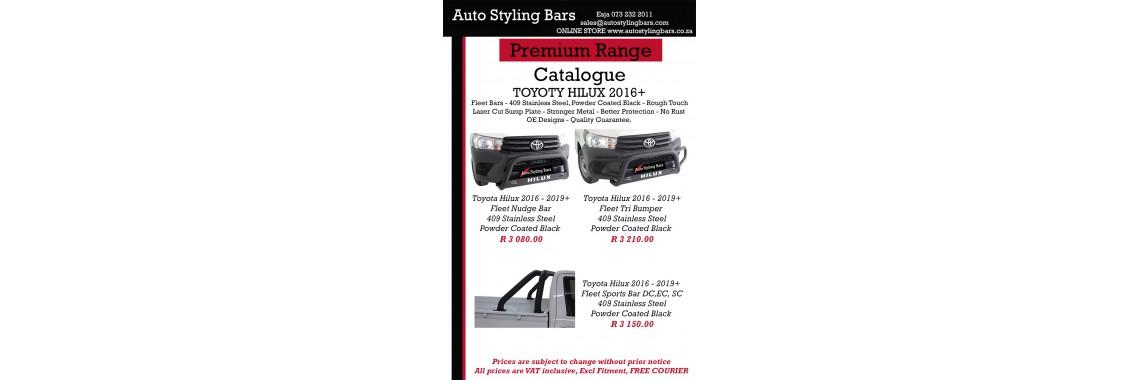 Toyota Hilux 2016+ 409 SS Black