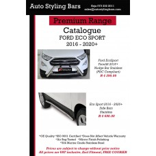 Ford Eco Sport 2018 2020+ (Facelift) Nudge Bar Stainless Steel