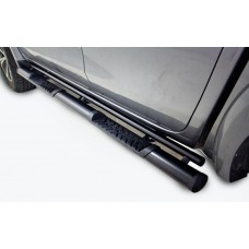 Ford Ranger 2012 - 2020+ Double Cab Side Steps 409 Stainless Steel PC Black