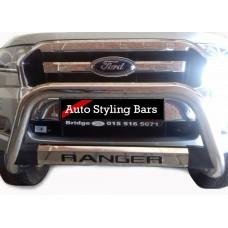 Ford Ranger 2016 - 2020+ Nudge Bar TILT Range Stainless Steel