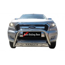 Ford Ranger 2016 - 2019 Nudge Bars Stainless Steel