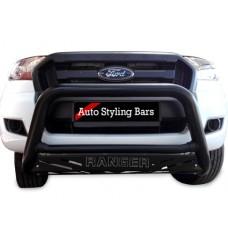 Ford Ranger 2016 - 2019 Nudge Bars Black Coated