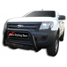 Ford Ranger 2012 - 2015 Nudge Bars Black Coated