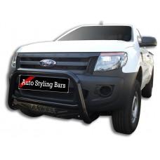 Ford Ranger 2012 - 2015 Nudge Bars Black Coated