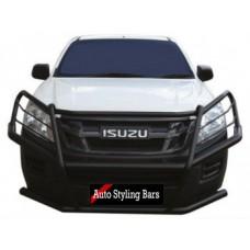 Isuzu 2016 - 2020 Bullbar - Full Face Wrap Around (Mild Steel) Black