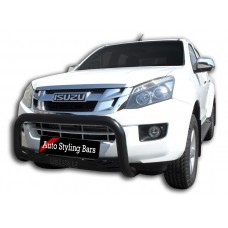 Isuzu 2016 - 2020+ Nudge Bars Black (Mild Steel)