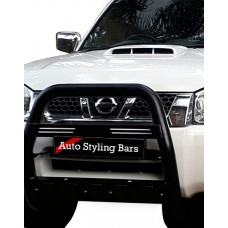 Nissan NP300 2009+ High Nudge Bar Black (Mild Steel)