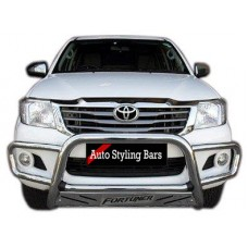 Toyota Fortuner 2005 - 2015 Nudge Bar Wrap Around Stainless Steel