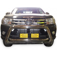 Toyota Hilux 2016 - 2020+ Nudge Bar Stainless Steel