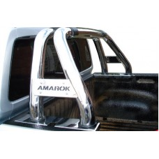 VW Amarok 2010 - 2020 Low Sports Bar Stainless Steel.