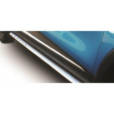 Renault Captur 2015 - 2018 Polished Stainless Steel Side Bars