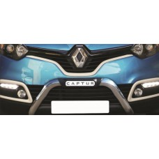 Renault Captur 2015 - 2018  Polished Stainless Steel Nudge Bar