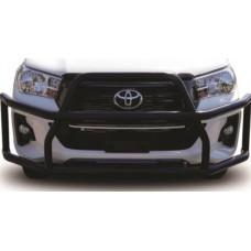 Toyota Hilux 2016 - 2020 Black Coated Nudge Bar High Wrap Around