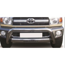 Toyota Landcruiser 70 2009 - 2020 Oval Stainless Steel Nudge Bar