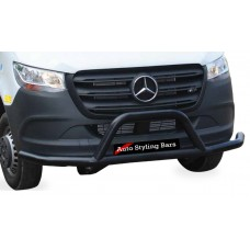 Merc Sprinter 2019+ Front Styling Bar 409 Stainless Steel Powder Coated Black