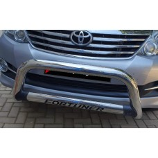 Toyota Fortuner 2006 - 2015 Nudge Bar with Oval Cross Member Stainless Steel