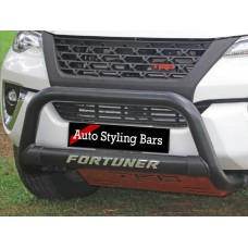Toyota Fortuner 2016 - 2020+ Nudge Bar 409 Stainless Steel PC BLACK