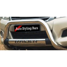 Toyota Hilux 2011 - 2015 Nudge Bar with Oval Cross Member Stainless Steel