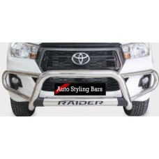 Toyota Hilux 2016 - 2020+ Tri Bumper with Oval Cross Member Stainless Steel