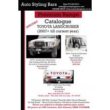 Toyota Landcruiser 70 & 79 Series 2007 - 2021+ Rear Step Stainless & Towbar