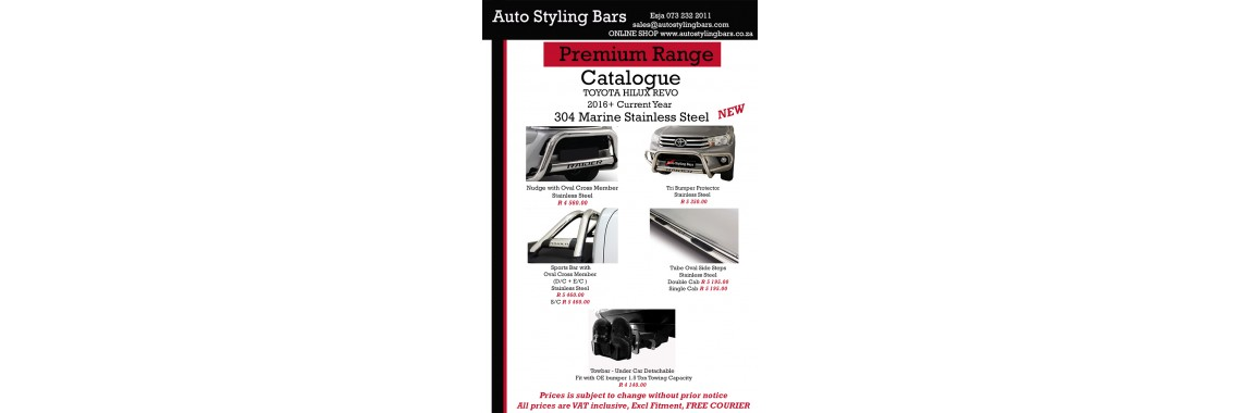 Toyota Hilux 2016+ Stainless Steel